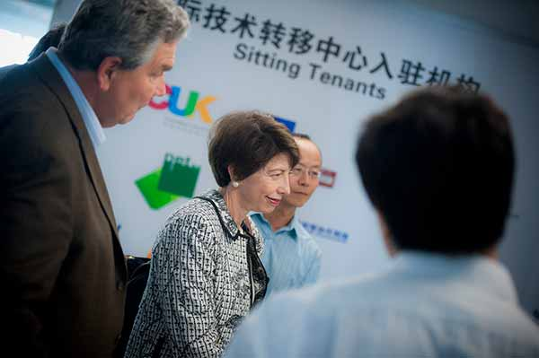 Image: From Left, Peter Cowhey, Susan Shirk and Lei Guang on a trip to China