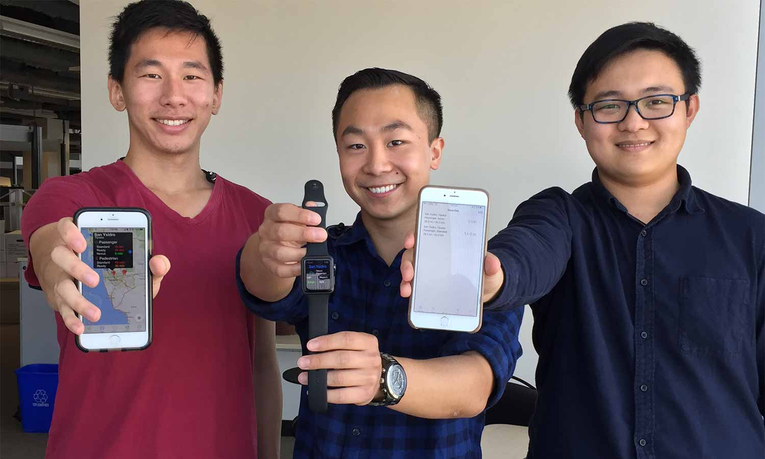 Image: Kevin Gu, Brian Chin and Martin Gao Best Time to Cross the Border App