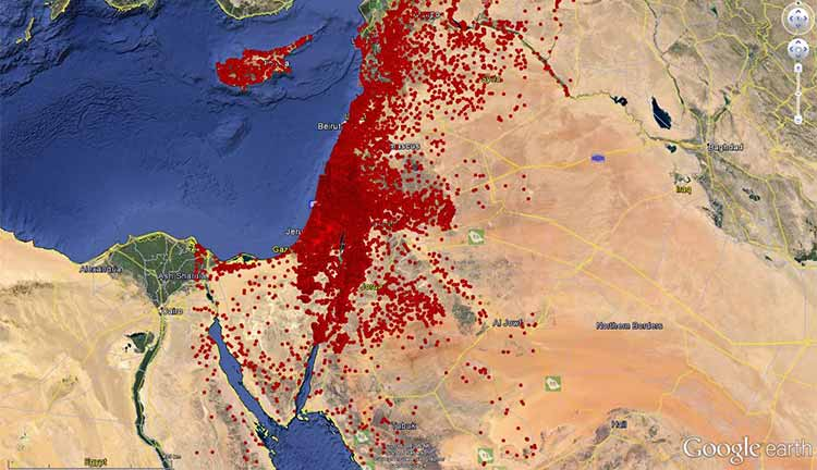 Image: Digital Archaeological Atlas of the Holy Land