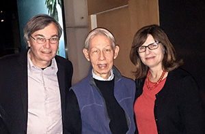 Photo: Thomas J. Csordas (left) with Dr. James Y. Chan and Carol Padden, dean of the Division of Social Sciences.