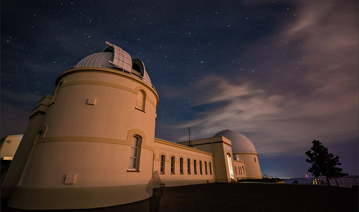 Photo: Skies cleared for a successful first night for NIROSETI at Lick Observatory