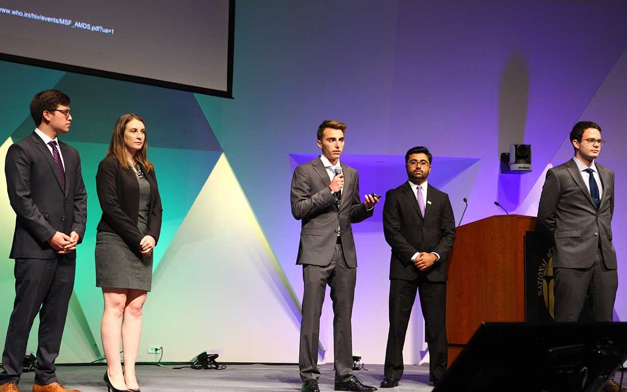 Students Developing Low-Cost Device for Monitoring HIV Levels in Blood Win National Competition