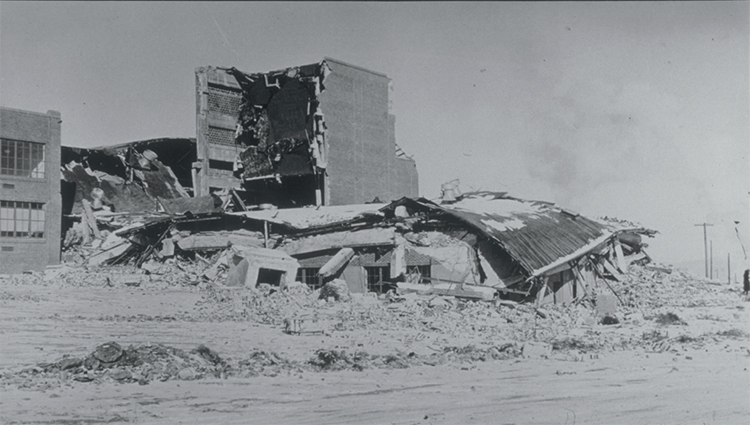 Helena High School damage 1935