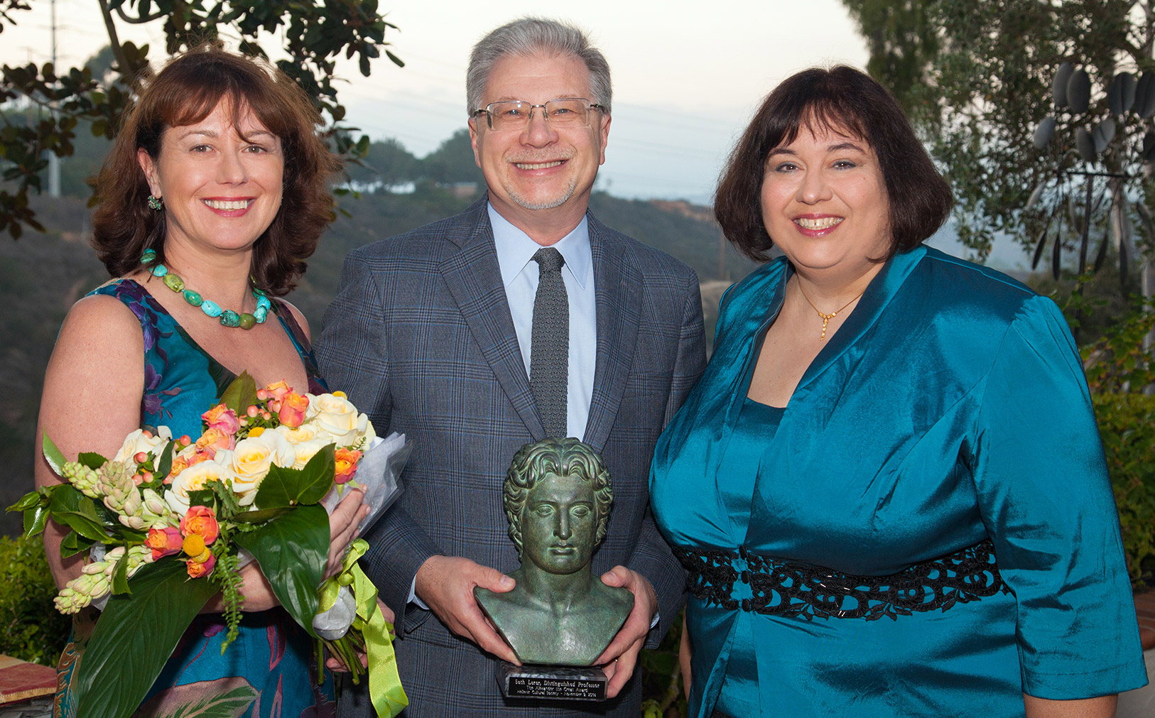 Photo: Alexandar the Great Award from the Hellenic Cultural Society of San Diego