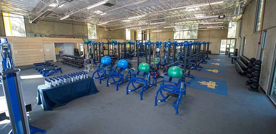 Image: Interior of the Alex G. Spanos Athletic Performance Center