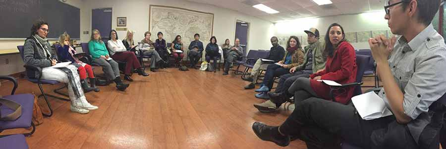 Image: Discussion group from Italian Studies. Photo: Italian Studies.
