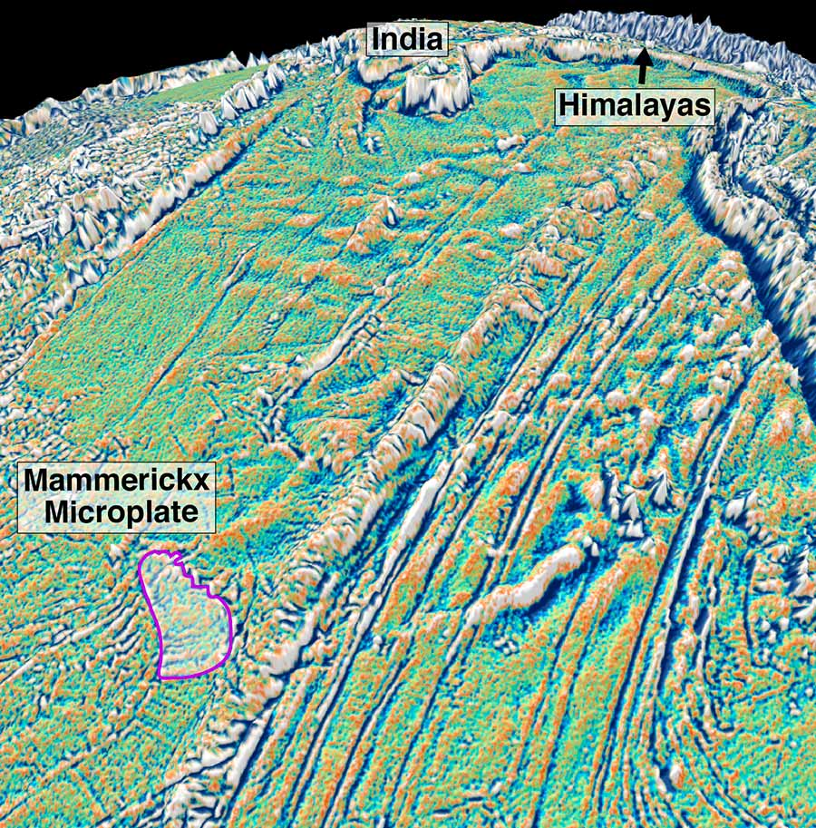 Image: Mammerickx Microplate view towards India