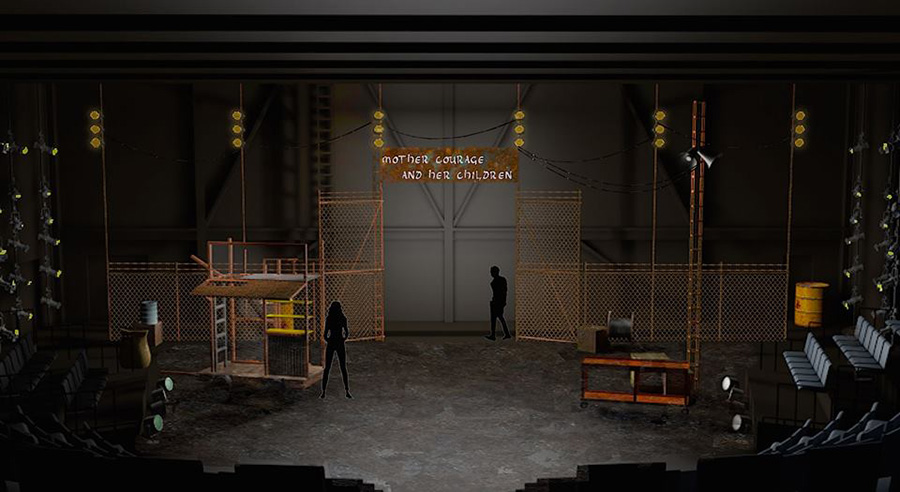 Mother Courage scenic design