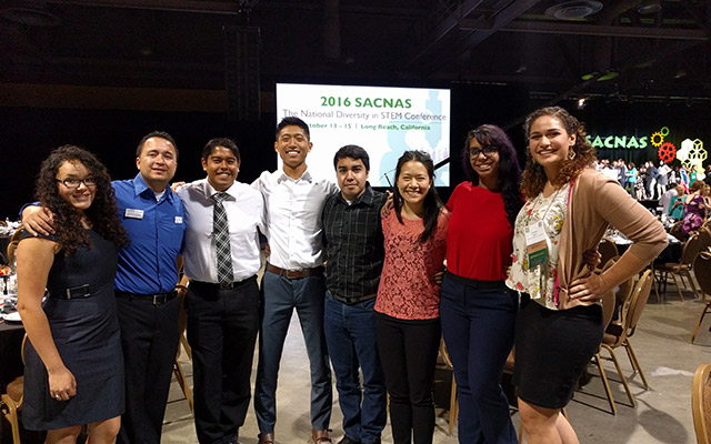 UC San Diego students and staff at SACNAS conference.