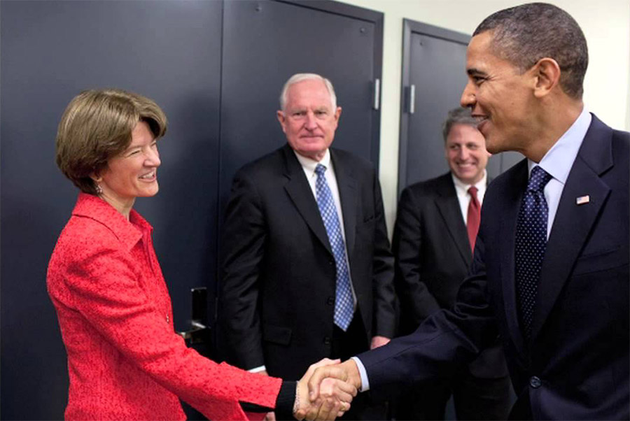 Image: Sally Ride with President Obama