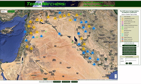 Image: Screen shot first week of TerraWatchers project