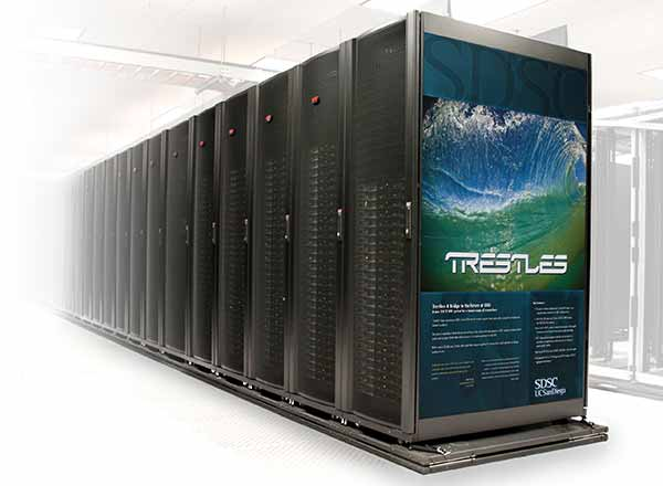 Photo: Trestles supercomputer cluster