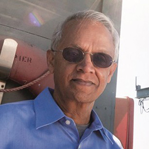 Image: Scripps Institution of Oceanography climate and atmospheric scientist Veerabhadran Ramanathan
