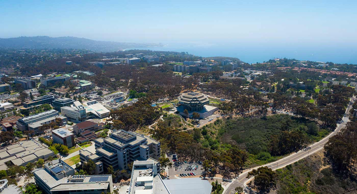 aerial view of ucsd