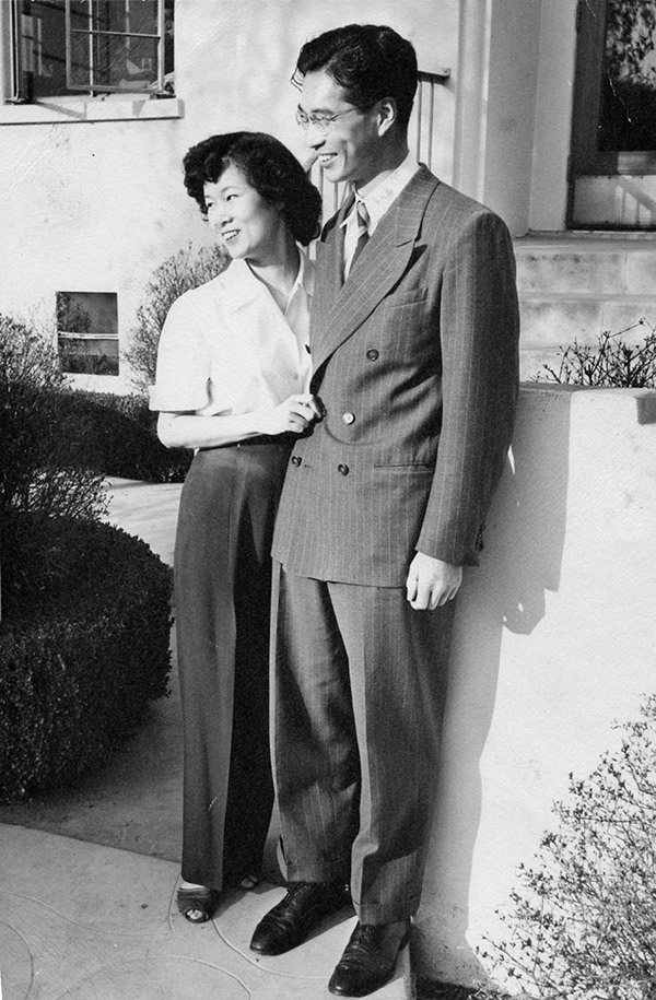 Bert Fung and his wife