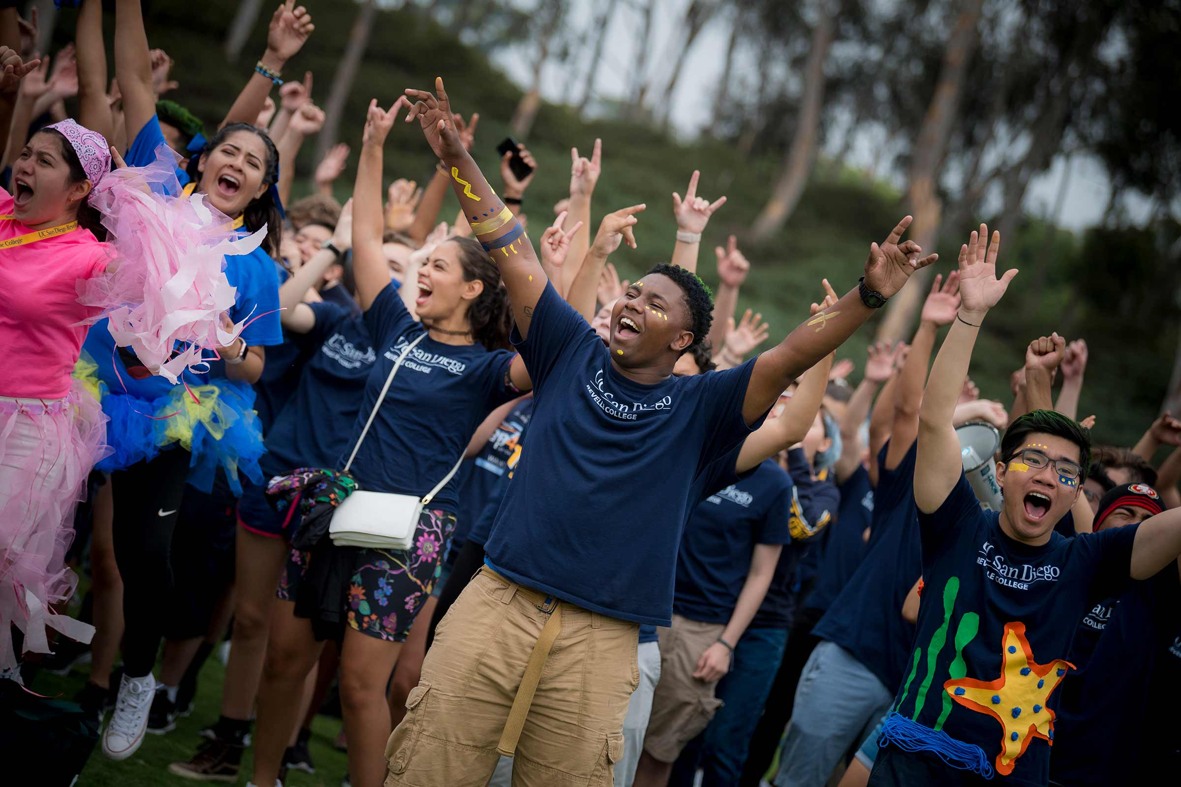 UC San Diego students celebrating back to school