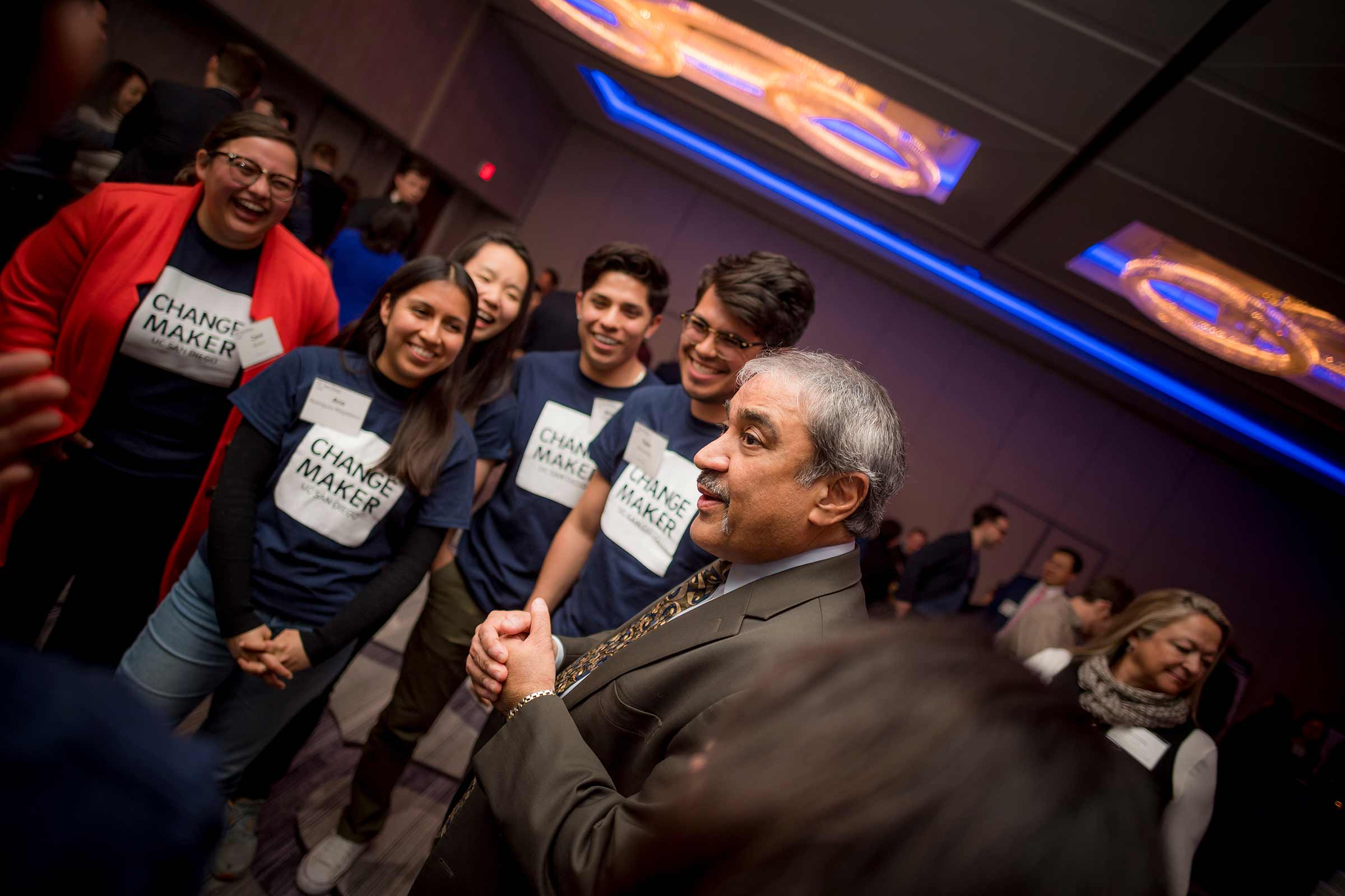 Student Changemakers with Chancellor Pradeep K. Khosla.