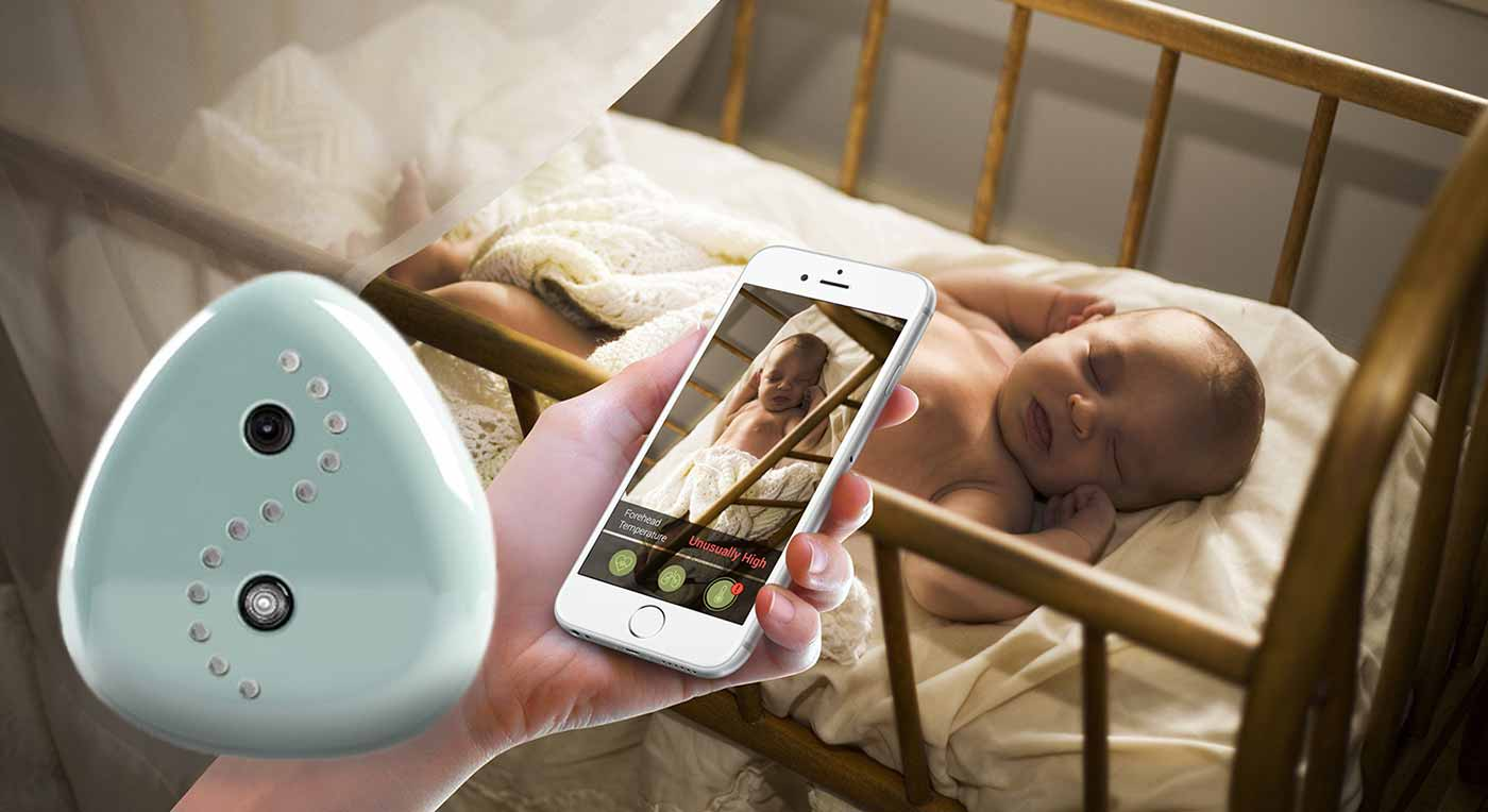 Image: Cocoon Cam is a smart camera and phone application duo that tracks baby's movement and vitals straight from the camera