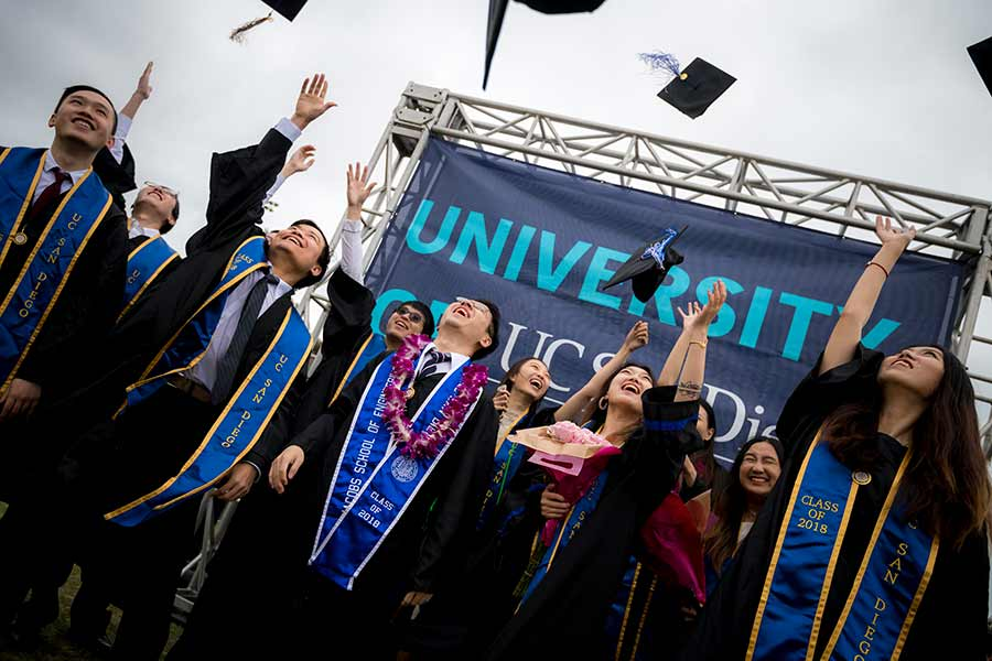 UC San Diego 2018 Commencement students at graduation