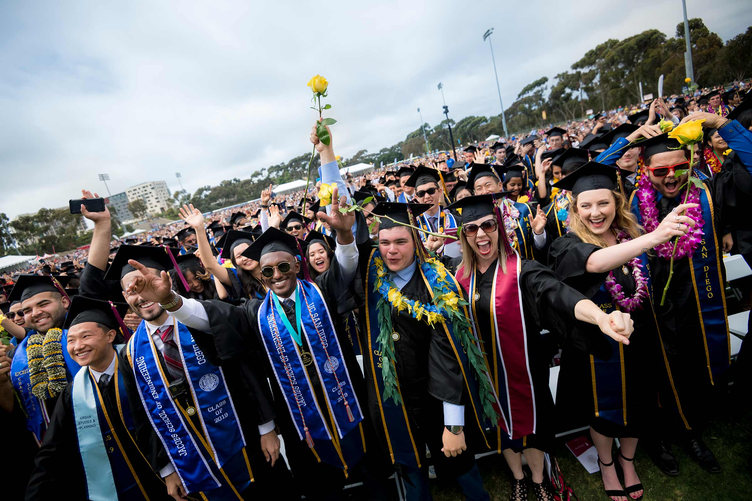 UC San Diego graduates at commencement 2019