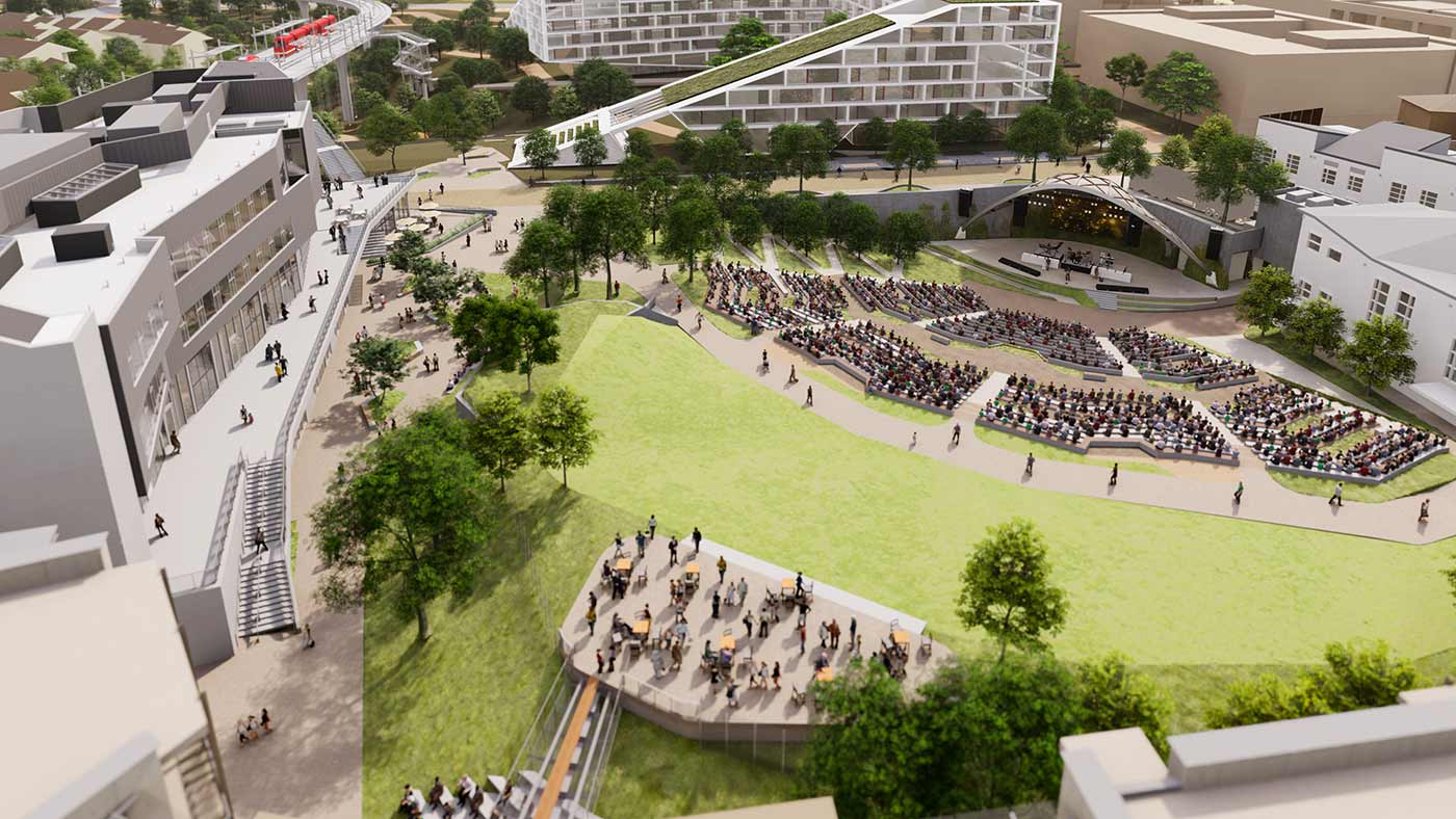 artist rendering of new uc san diego amphitheater