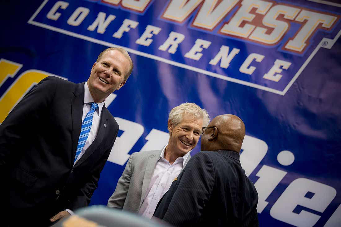 Kevin Faulconer mayor of San Diego celebrates UC San Diego Division 1 news