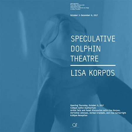 Poster for the Speculative Dolphin Theater Exhibition