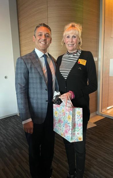 Dr. Joseph Osorio with Michele Pease-Downey