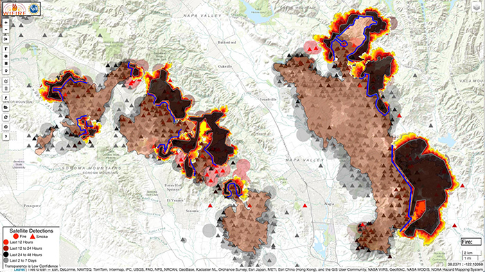 Northern CA Wildfires Generate 1 5 Million Views of UC San