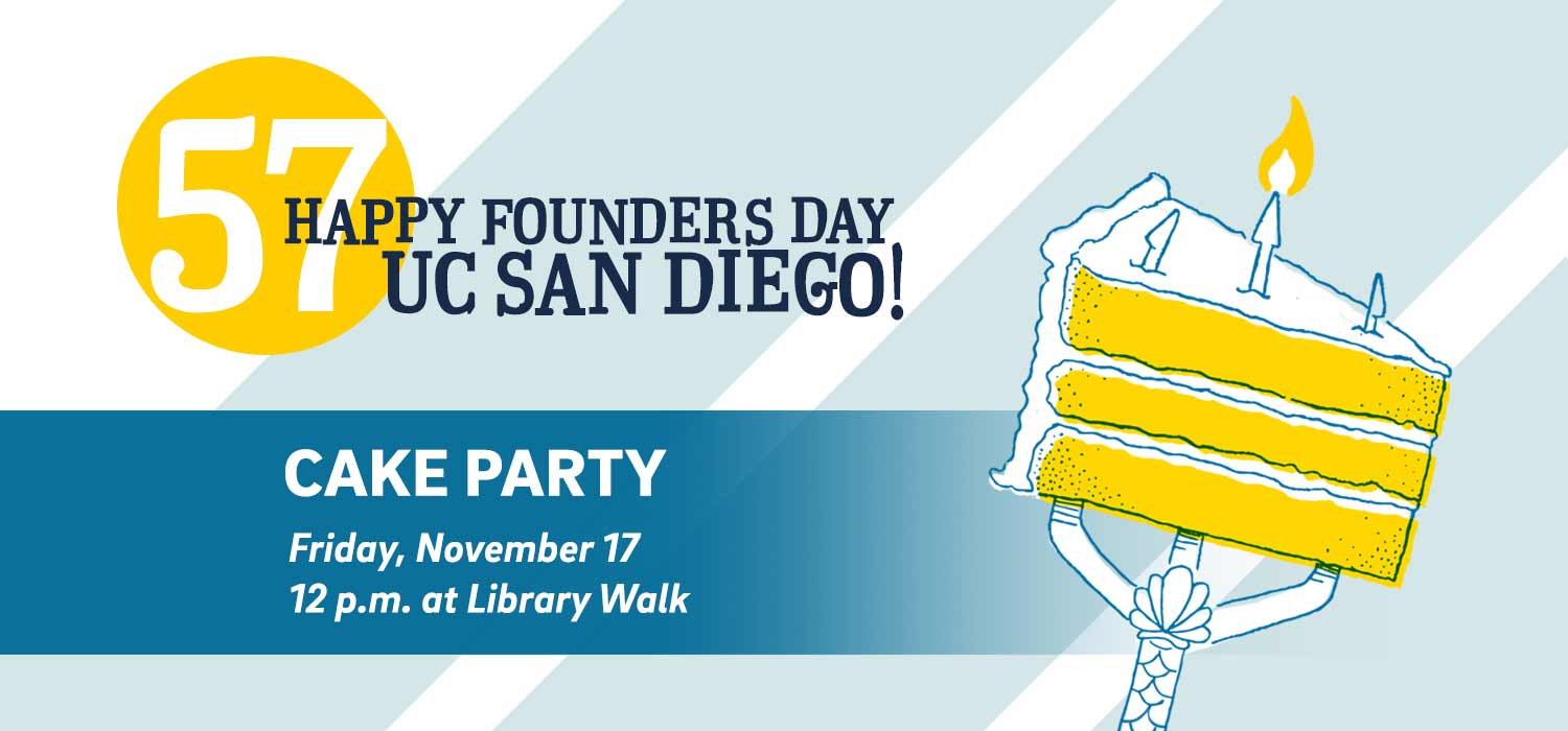 UC San Diego campus cake party