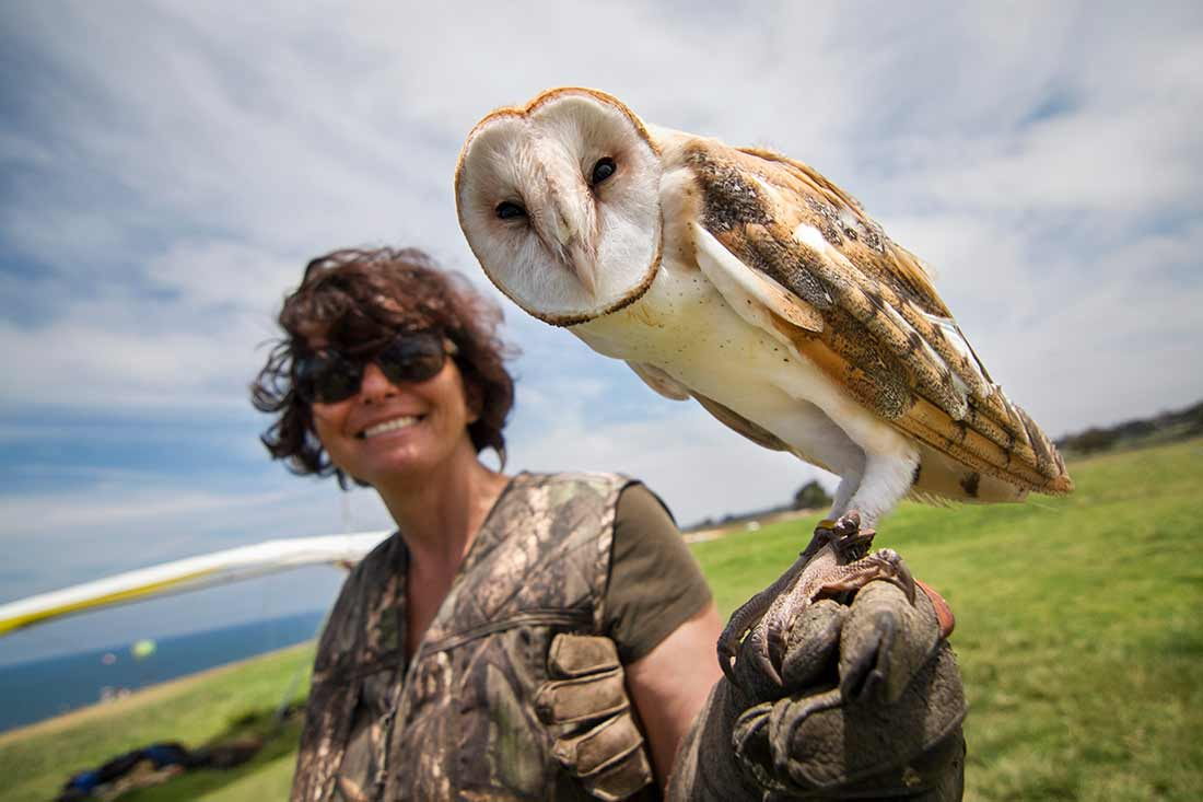 Antonella Zampolli co-founder of total raptor experience
