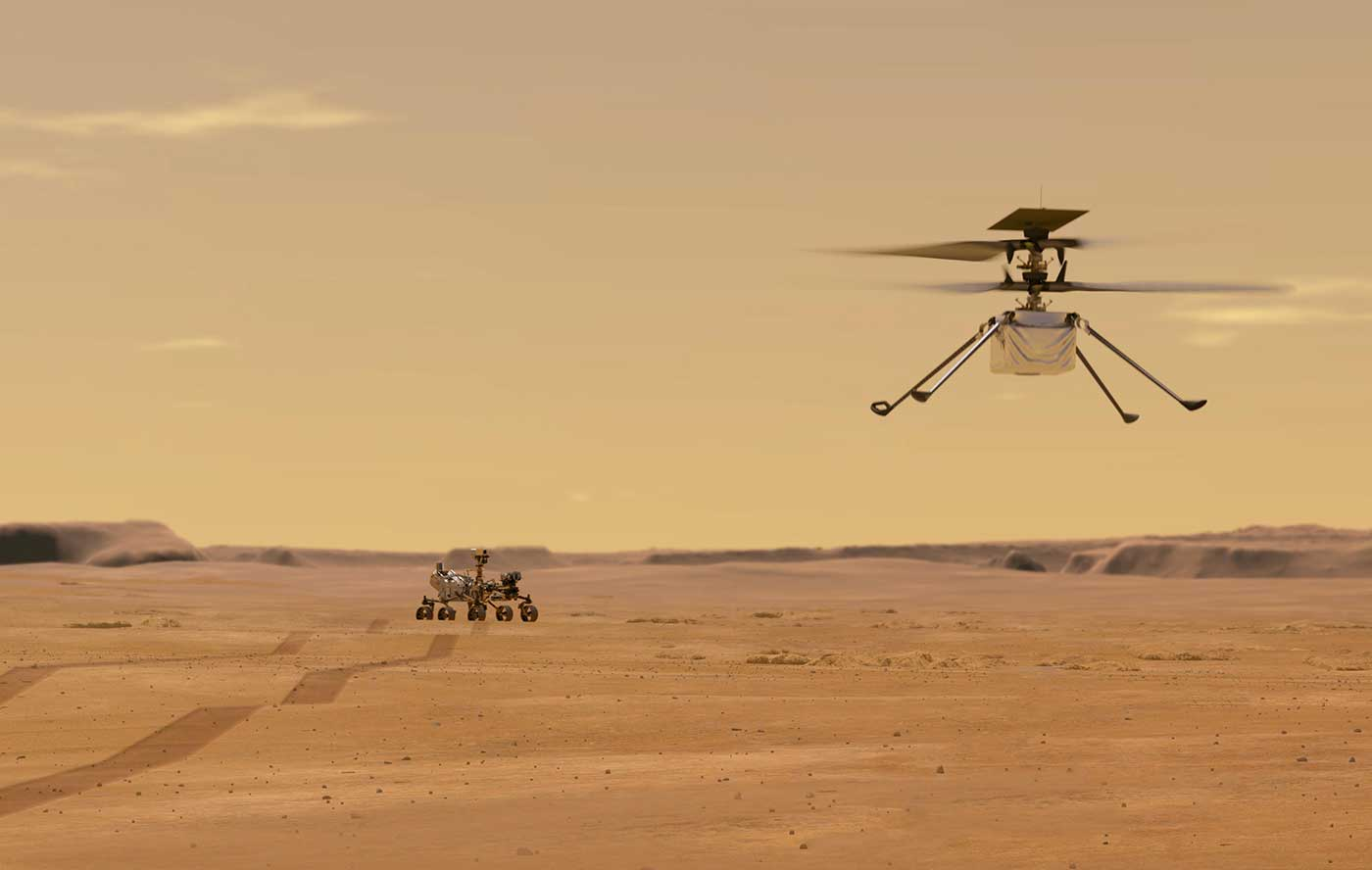 Perseverance rover and the Ingenuity helicopter.