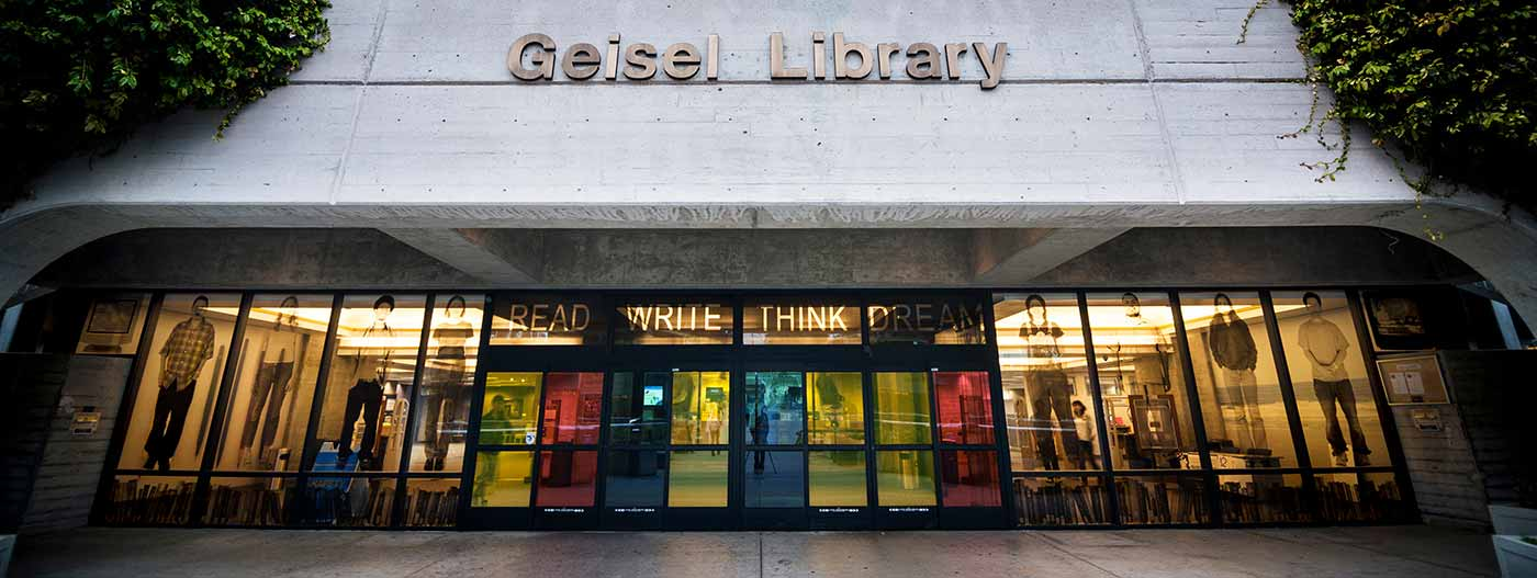 entrance on Geisel Library.