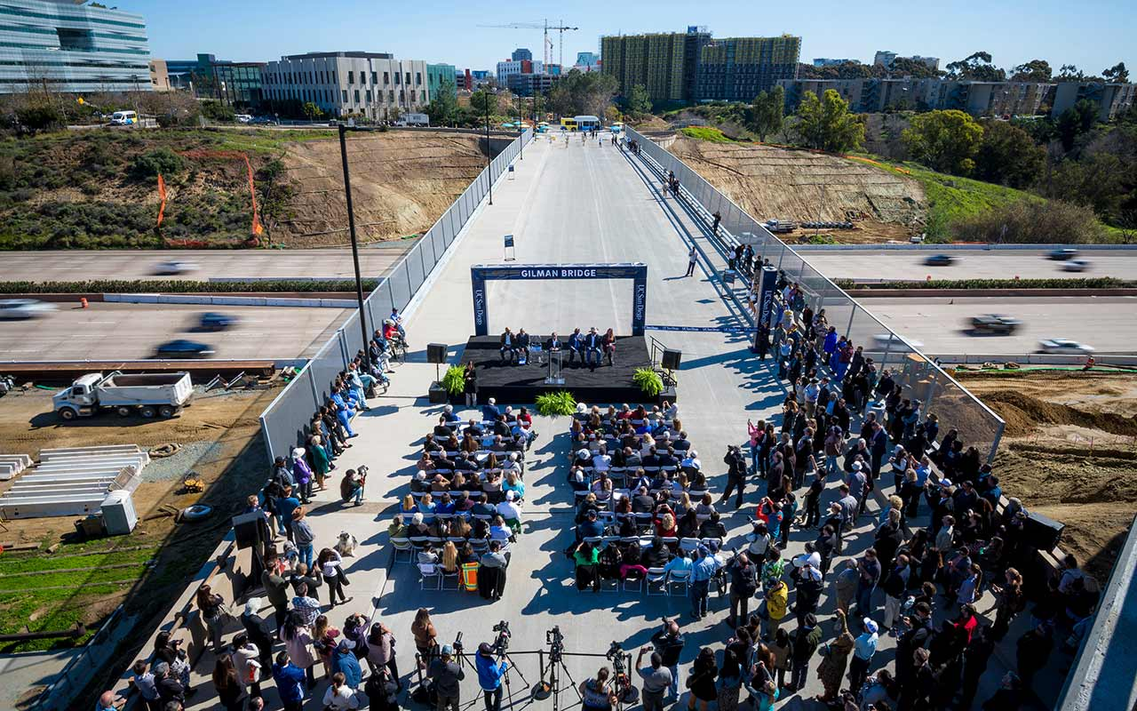 Building Connections: Campus Celebrates Gilman Bridge Opening