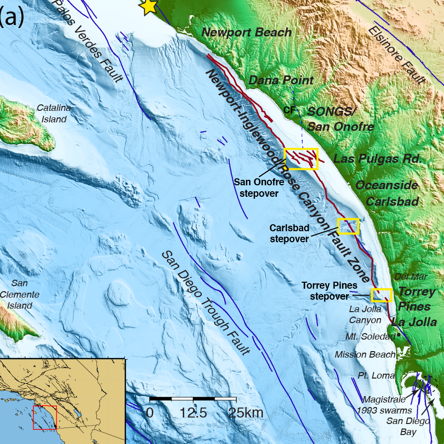 Fault System Off San Diego Orange Los Angeles Counties Could - Los angeles fault zone map