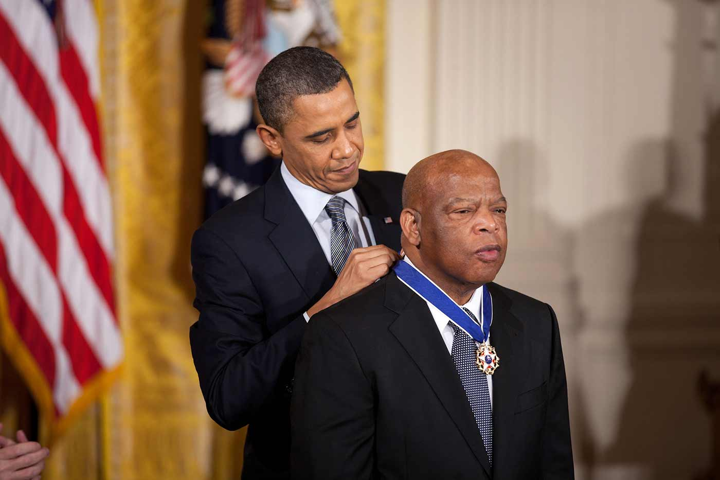 President Obama giving John Lewis the Medal of Freedom