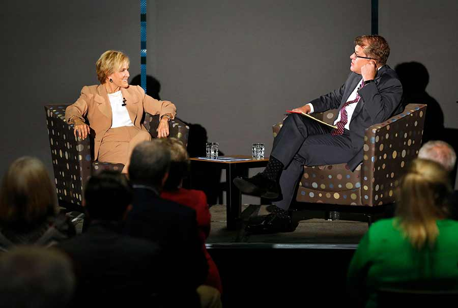 Judith Rodin and Steve Clemons speaks at UC San Diego