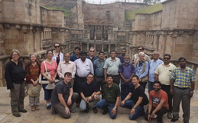Levy and other conference attendees visit a nearby site in Gujarat, the Rani Ki Vav Stepwell, now a UNESCO World Heritage Site.