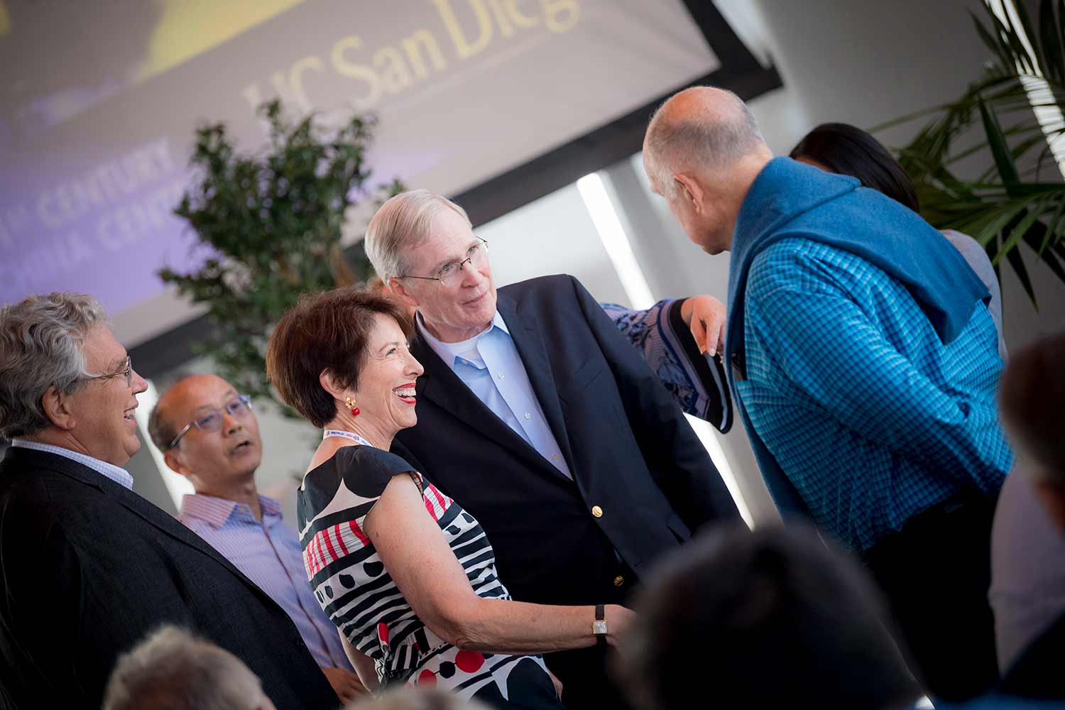 Peter F. Cowhey, Lei Guang, Susan Shirk, Stephen Hadley and Jerry Brown.