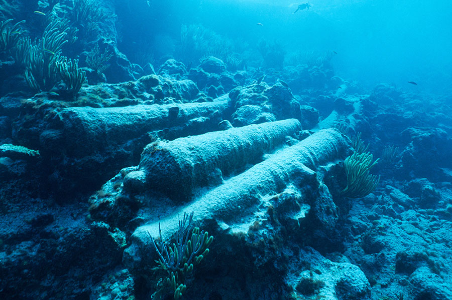 Underwater image of the Manilla wreck site