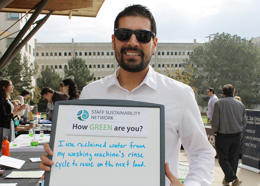 Staff Sustainability Network Chair elect Mark Ortiz