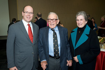 Prince Albert II with Walter and Mary Coakley Munk