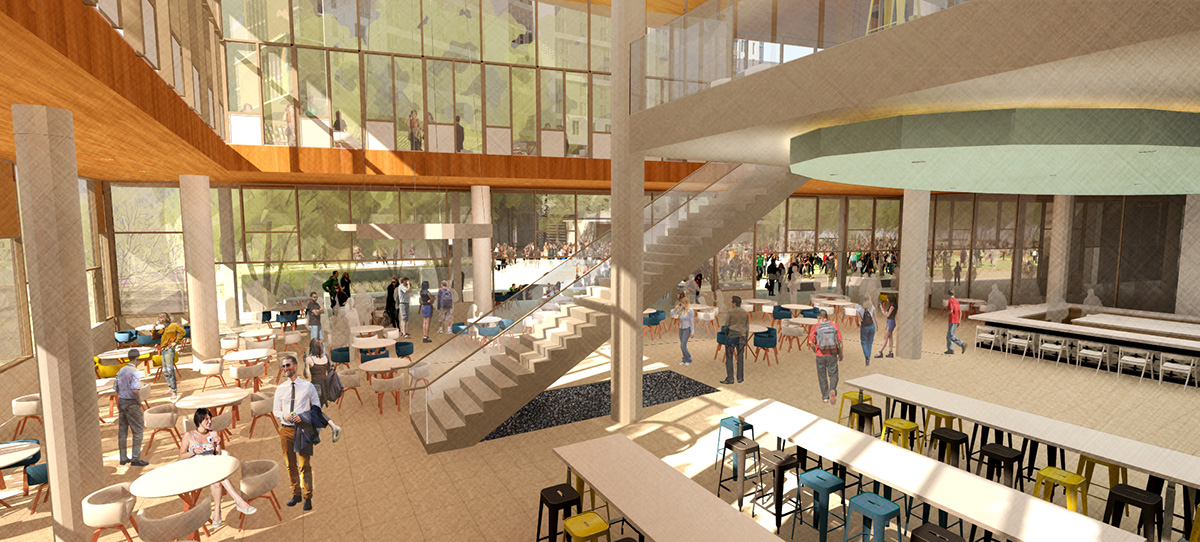North Torrey Pines Living and Learning Center artist rendition of inside space