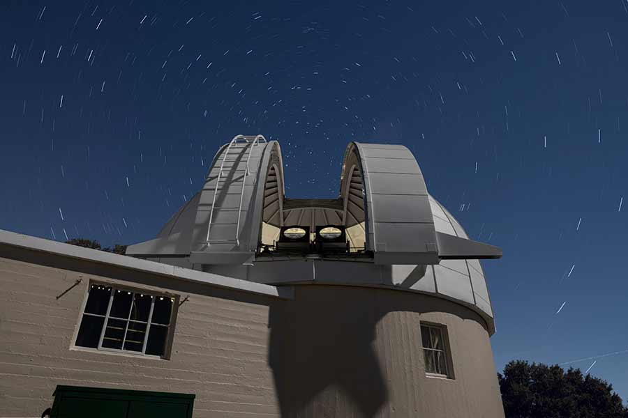 view of space telescope