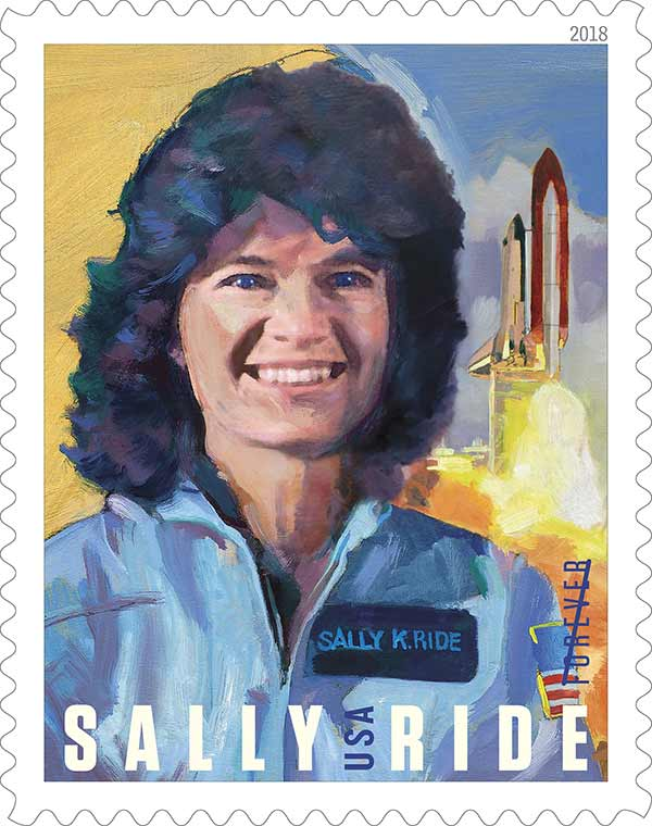 Forever stamp of Sally Ride bu the U.S Postal Service