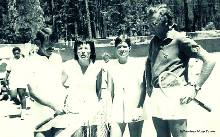 Billie Jean King with Sally Ride.