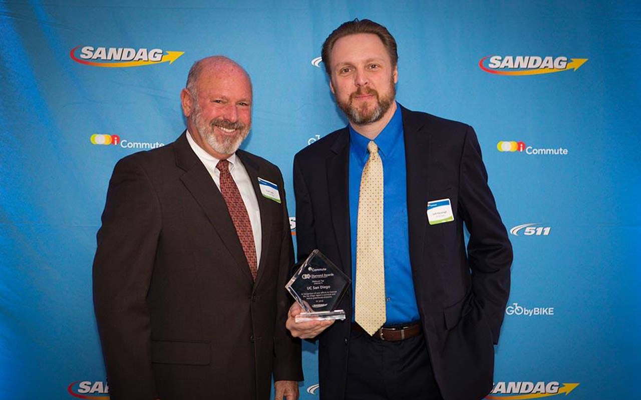 Commute Solutions Manager Curt Lutz and Transportation Services Director Josh Kavanagh