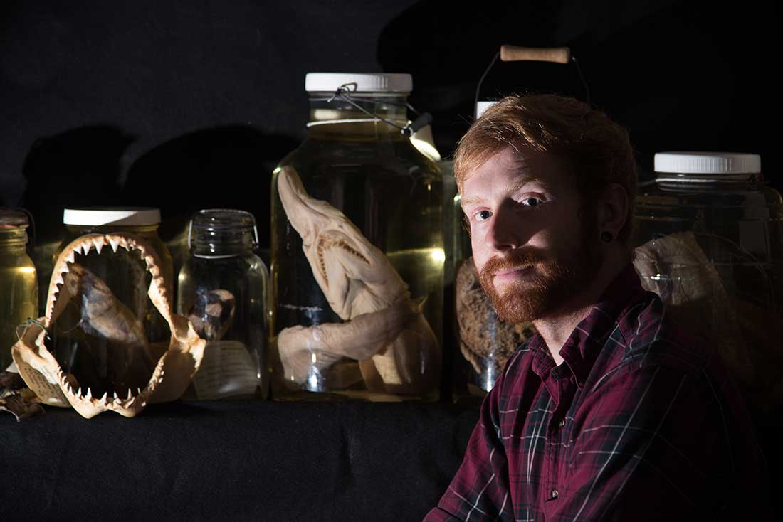 Marine Vertebrate Collection Manager Ben Frable.