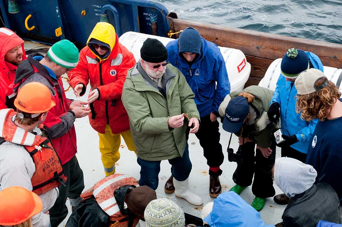Marine Vertebrate Collection Curator Phil Hastings leads a student cruise.