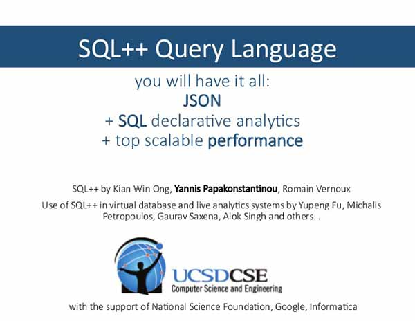 Photo: 2014 presentation on SQL++